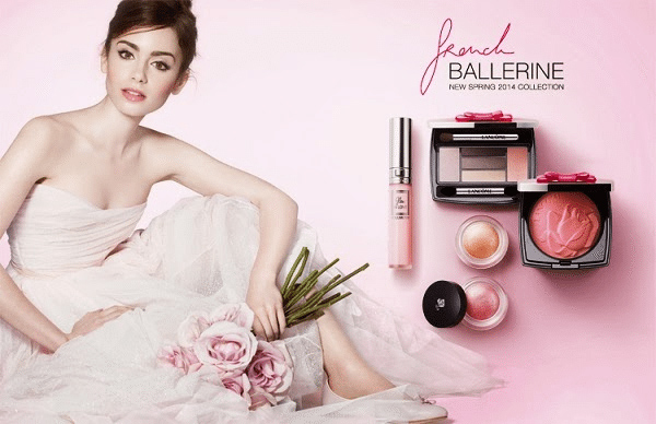 Lily-Collins-Lancome-French-Ballerine-she365